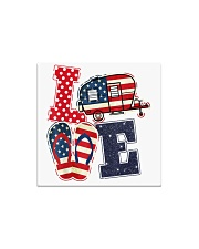 Love Camping USA Flag Flip Flop Camper Square Magnet thumbnail