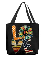 Hippie love All-over Tote thumbnail