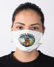 Retro Vintage Bear Camping I Hate People G Cloth face mask aos-face-mask-lifestyle-01