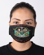 A girl and her dog living life in peace Cloth face mask aos-face-mask-lifestyle-01