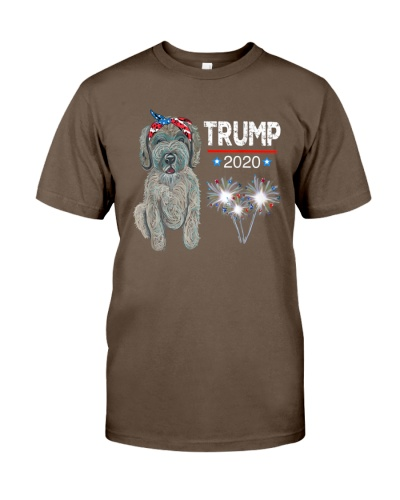 Trump 2020 Election USA Doodle Dog Lover