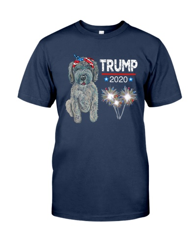 Trump 2020 Election USA Doodle Dog Lover