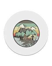 Funny I hate people Vintage Camping Circle Coaster tile