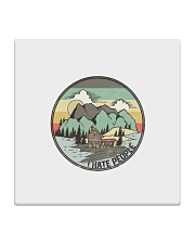 Funny I hate people Vintage Camping Square Coaster tile