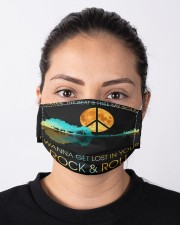 I wanna get lost in your rock n roll Cloth face mask aos-face-mask-lifestyle-01