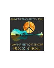 I wanna get lost in your rock n roll Square Magnet thumbnail