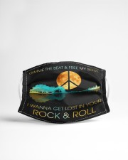 I wanna get lost in your rock n roll Cloth face mask aos-face-mask-lifestyle-22