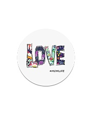 Love mom Circle Magnet thumbnail