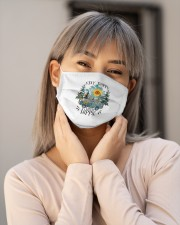 Womans Stay Trippy Little Hippie w Cloth face mask aos-face-mask-lifestyle-17