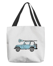 Retro Hippie SUV Off-Road Vehicle Lacrosse Lax All-over Tote thumbnail
