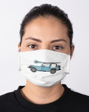 Retro Hippie SUV Off-Road Vehicle Lacrosse Lax Cloth face mask aos-face-mask-lifestyle-01