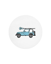 Retro Hippie SUV Off-Road Vehicle Lacrosse Lax Circle Cutting Board thumbnail