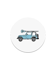 Retro Hippie SUV Off-Road Vehicle Lacrosse Lax Circle Magnet thumbnail