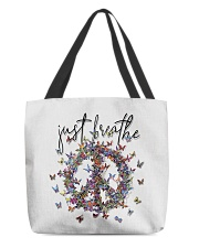 Just breathe All-Over Tote tile