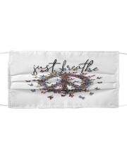 Just breathe Cloth face mask front
