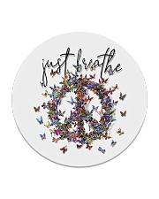 Just breathe Circle Coaster tile