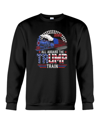 Trump President 2020 Tshirt All aboard