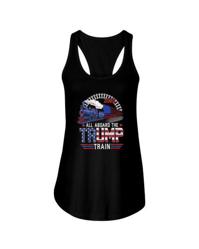 Trump President 2020 Tshirt All aboard