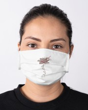Tee Let It Be Dragonfly Lotus Graphic G Cloth face mask aos-face-mask-lifestyle-01