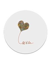 Let It Be Flowers Hippie Circle Coaster thumbnail