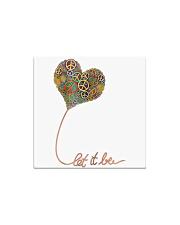 Let It Be Flowers Hippie Square Magnet thumbnail