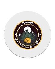Camp Quicherbichin Funny Camping Gag Circle Coaster tile