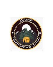 Camp Quicherbichin Funny Camping Gag Square Magnet tile