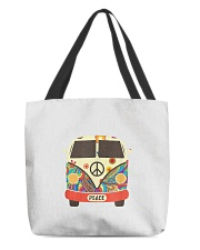 Hippie Hippies Peace Vintage Retro Costume Hippy All-over Tote thumbnail