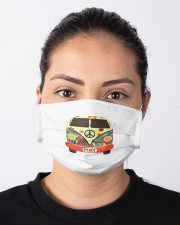 Hippie Hippies Peace Vintage Retro Costume Hippy Cloth face mask aos-face-mask-lifestyle-01