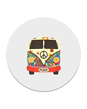 Hippie Hippies Peace Vintage Retro Costume Hippy Circle Coaster thumbnail