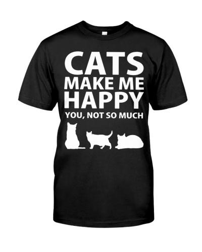 Cats Make Me Happy Tshirt -
