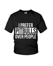 I prefer pitbull over people Youth T-Shirt tile