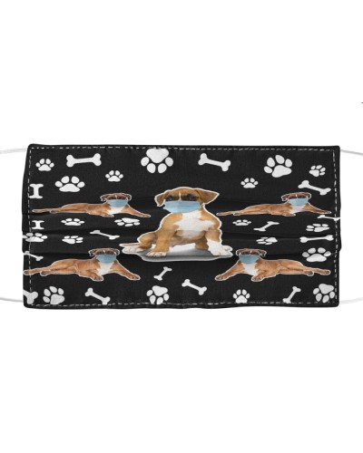 Boxer Dog Pattern Face Mask