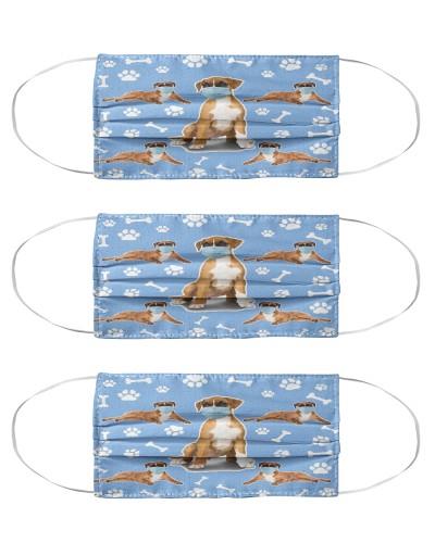 Boxer Dog Pattern Face Mask