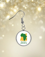 Mama Africa Face Mask Circle Earrings aos-earring-circle-front-lifestyle-3