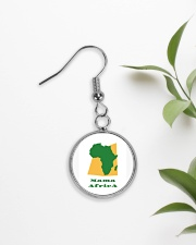 Mama Africa Face Mask Circle Earrings aos-earring-circle-front-lifestyle-7