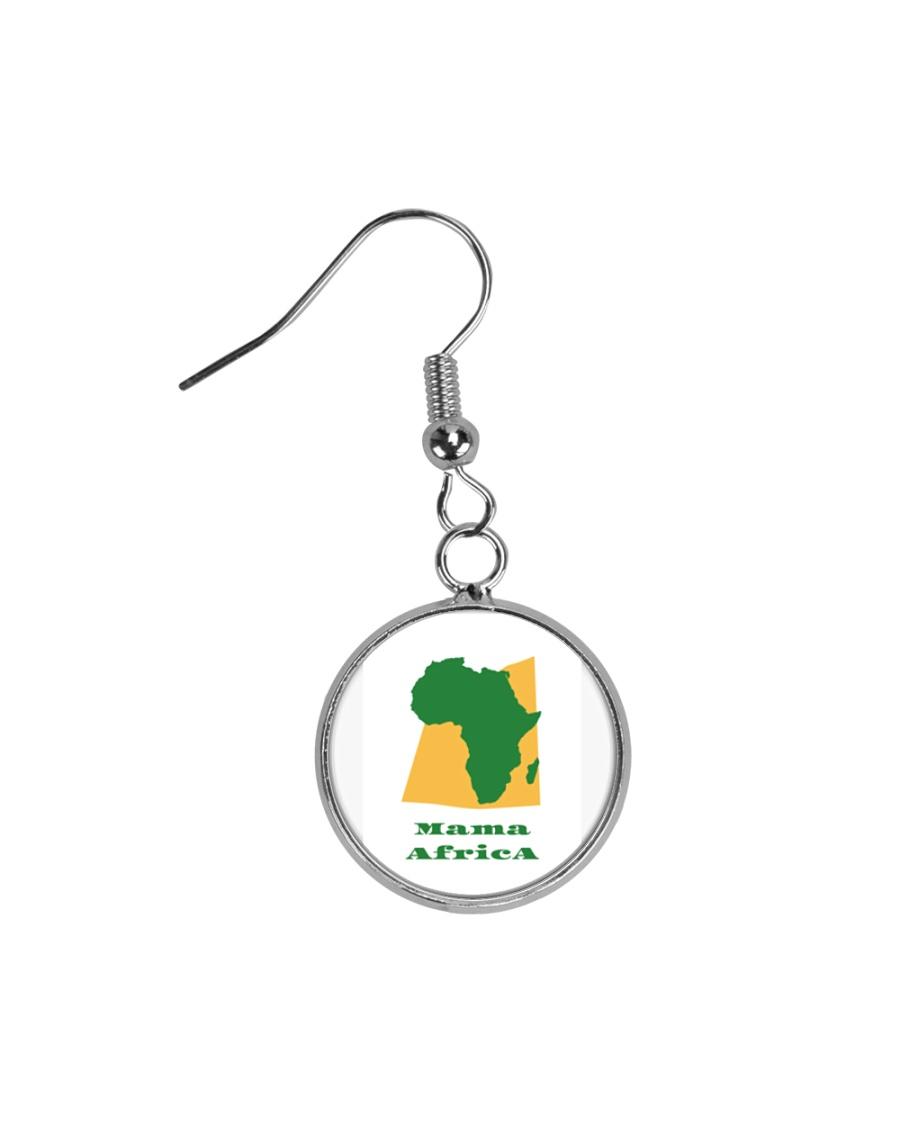 Mama Africa Face Mask Circle Earrings