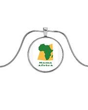 Mama Africa Face Mask Metallic Circle Necklace thumbnail