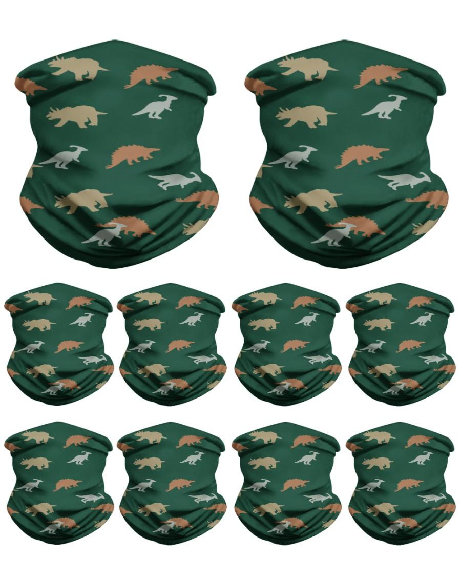 Dino Pattern Neck Gaiter - 10 Pack