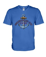 Guantanamo Bay Cuba - Anchor V-Neck T-Shirt thumbnail