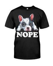 Nope French Bulldog T Shirt Lazy Funny Dog Lover M Premium Fit Mens Tee thumbnail