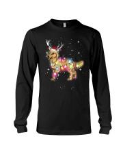 Christmas Lights Golden Retriever Dog T Shirt Long Sleeve Tee thumbnail