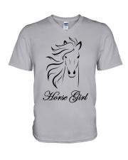 Horse Girl T Shirt Top Racing Riding Horses Lover  V-Neck T-Shirt thumbnail