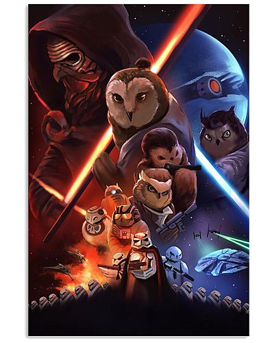 Owl war cute poster