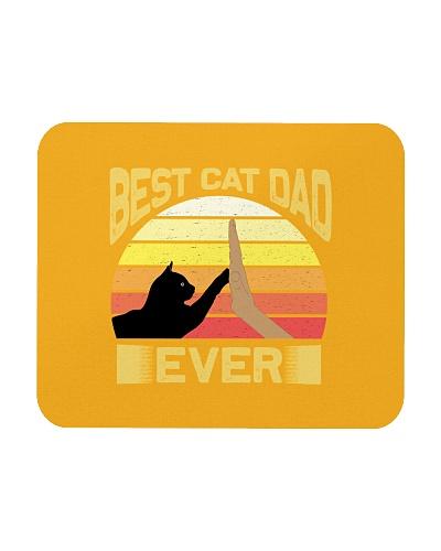 Best Cat Dad Ever Vintage Retro Sunset