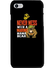 Never Mess With Marine Mama Bear Phone Case thumbnail
