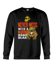 Never Mess With Marine Mama Bear Crewneck Sweatshirt thumbnail