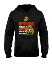Never Mess With Marine Mama Bear Hooded Sweatshirt thumbnail