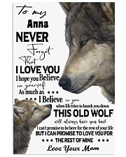 Wolf Picture Custom Name 11x17 Poster thumbnail