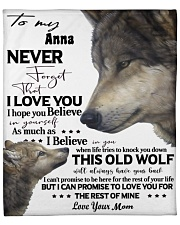 Wolf Picture Custom Name Fleece Blanket tile